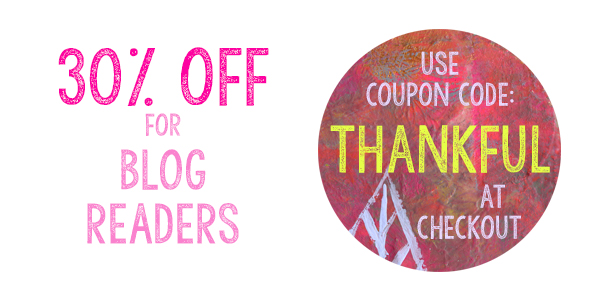 30 percent off for blog readers