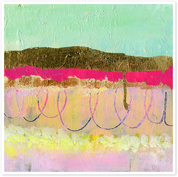 Sunshine Mint Magenta Gold Layers